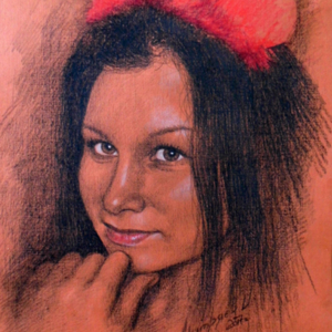 Portrait of a girl 5 to gift - 30x40 2017 graphit pastel.jpg
