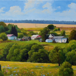 Landscape of the village 50x80 2016 canvas oil.jpg